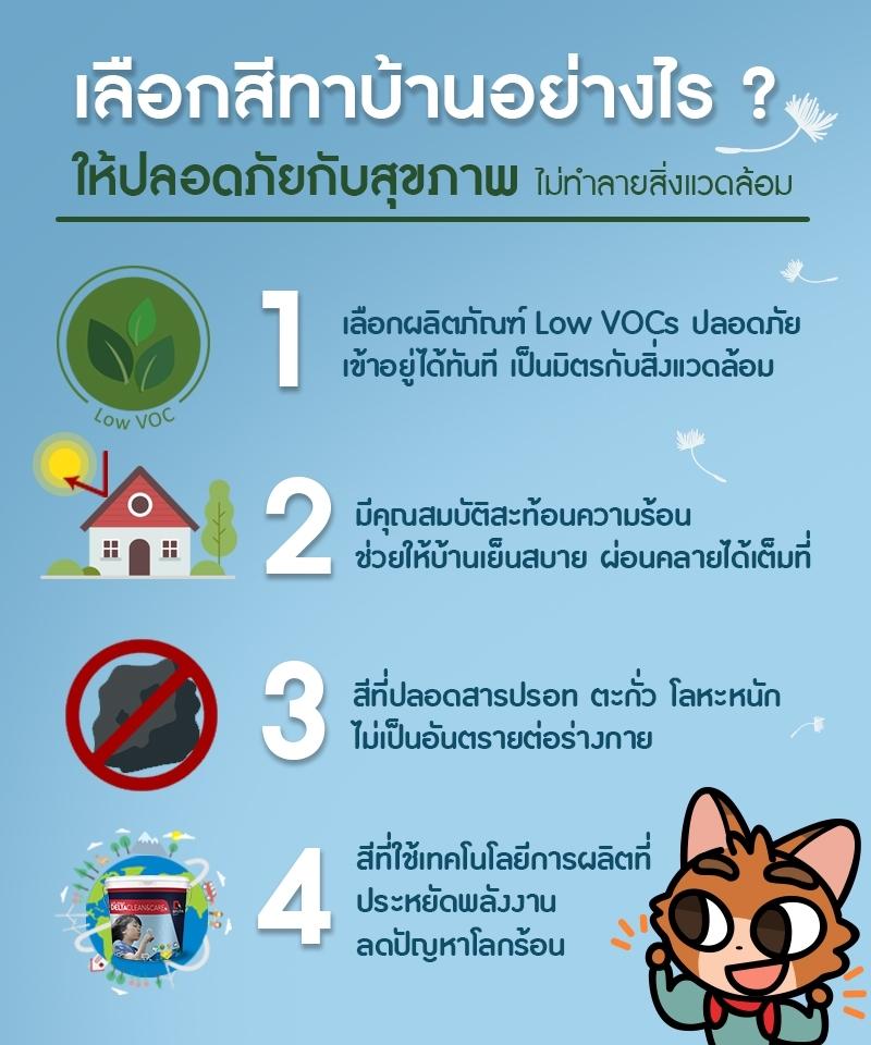 สีทาบ้านปลอดภัยกับสุขภาพ